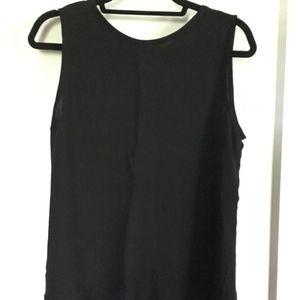 LOFT Sleeveless Blouse, Black, Large